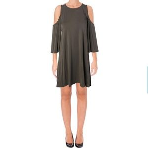 NWT AQUA A-Line Cold Shoulder Mini Dress - Small
